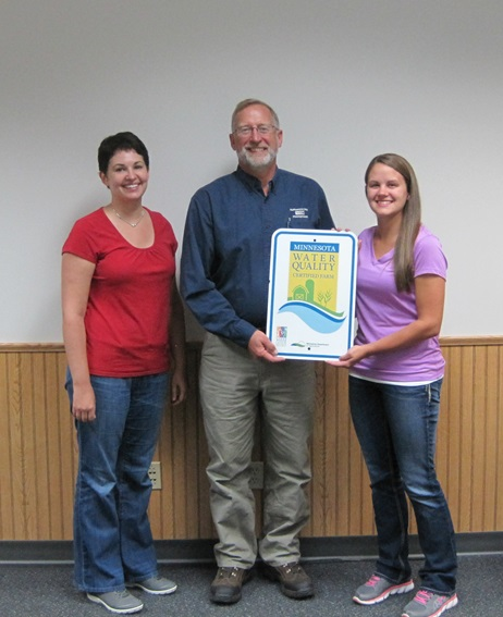 Bernie Paulson receiving his MN Water Quality Certification